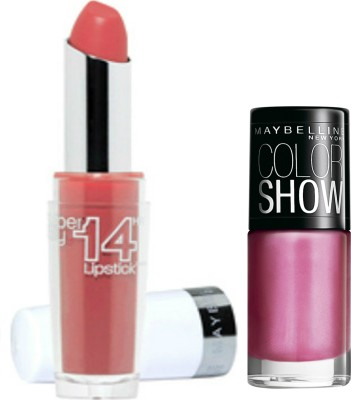 Maybelline Super Stay 14 Hr Lipstick and Color Show Combo 2