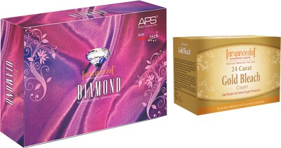Aryanveda Diamond Facial Kit (510gm) With One Gold Bleach (250gm)