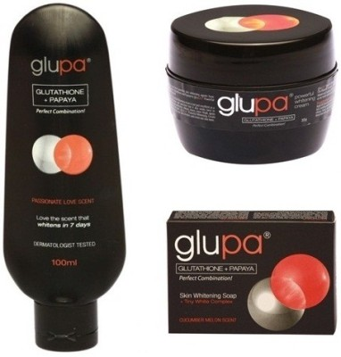 Glupa Glutathione And Papaya Whitening Lotion, Cream & Soap