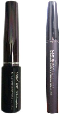 Cameleon Combo Of Hi-Vol Mascara & Hi-Tech Eyeliner(Set of 2)