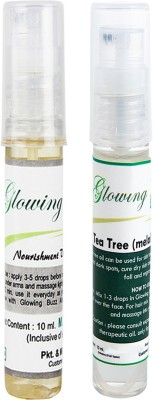 Glowing Buzz Combo of 1 Nourishment Vitamin E Oil and 1 Tea Tree Essential Oil