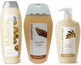 Mussvital Soya Shower Gel & Argan Body Milk & Frequent(Regular) Shampoo