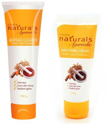 Avon Naturals Ayurvedic Whitening Cream (50g) & Cleanser (100g)