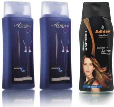 Adidev Herbals Herbal Hair Oil with Antidandruff Shampoo