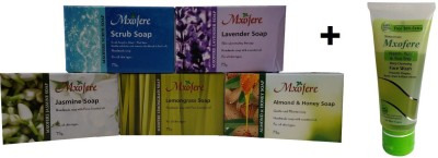 Mxofere Combo Scrub Lavender Jasmine Lemongrass Almond Honey Soap Kit