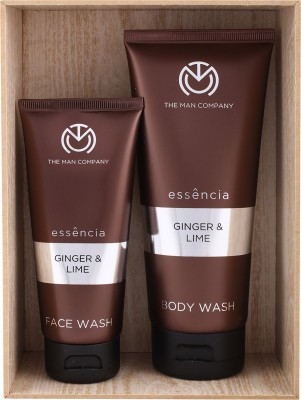 The Man Company Ginger & Lime Set of Face Wash and Body Wash