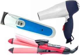 Welcome India Bazar wib 2 in 1 Hair Straightener Hair Dryer Hair Trimmer(Set of 3)