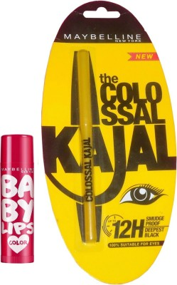Maybelline Baby Lips Berry Crush and Colossal Kajal Combo