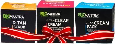 BioMantra D-Tan Set Of cream,Pack,Scrub