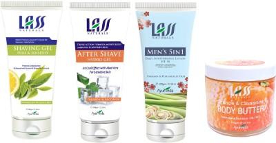 Lass Naturals Men,S Grooming Kit For Sensitive Skin