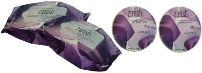 Zuush Eye Makeup and Nail Polish Remover Wipes Combo of 4