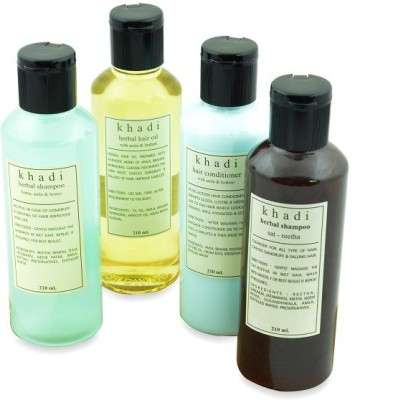 Khadi Natural Natural Anti Graying Solution Kit of Hair Oil, Shampoo & Conditioner