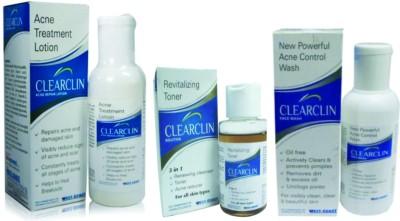 West-Coast Clearclin Acne Facewash, Lotion & Toner Combo
