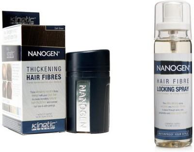 Nanogen Hair Fibres with Locking Spray (Dark Brown)