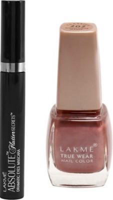 Lakme Mascara & Nail Color Combo