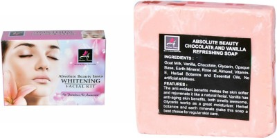 Absolute Beauty Skin Care Whitening Smooth Texture Insta Glow Facial Kit 350g + Chocolate Vanila Soap