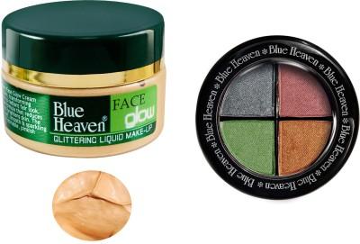 Blue Heaven Face Glow & Eye Magic Eye Shadow 601 Combo