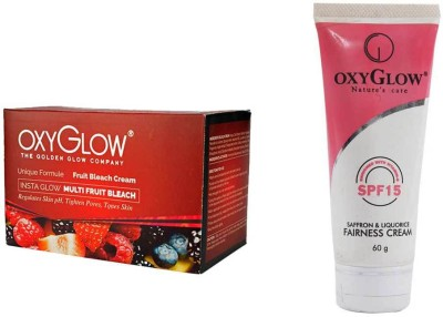 Oxyglow Golden Glowmutli Fruit Bleach & Saffron & Liquorice Fairness Cream 60gm