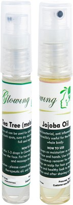 Glowing Buzz Combo of 1 Tea Tree Essential Oil and 1 Jojoba Essential Oil