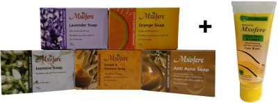 Mxofere Combo Lavender Orange Jasmine Sandal Turmeric Anti Acne Soap Kit