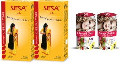 Ban Lab Sesa Hair Oil with Glow and Charm Facial Kit