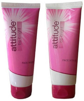 Amway Attitude Be Bright Face Wash 100 Ml and Face Scrub 100 Ml