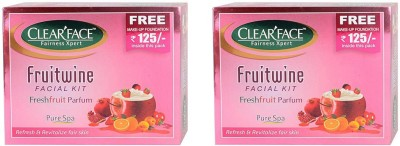 Clear Face Fruit Wine Facial Kit (Pack of 2 )