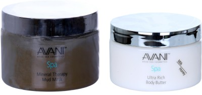 Avani Mineral Therapy Mud Mask And Ultra Rich Body Butter (Milk/Honey)