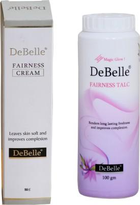 DeBelle Fairness Combo of 50g Cream & 100g Talc
