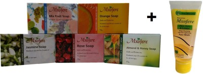 Mxofere Combo Mixfruit Orange Jasmine Rose Almond Honey Soap Kit