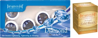 Aryanveda Combo Of Diamond Facial Kit & Aryanveda Gold Bleech