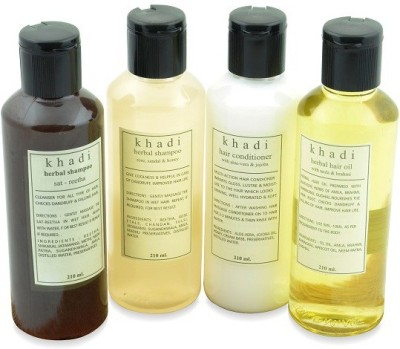 Khadi Natural Natural Anti Dryness Solution Kit of Hair Oil, Shampoo & Conditioner