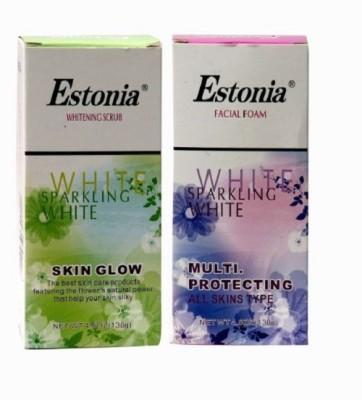 Estonia Whitening Scrub and Facial Foam Combo