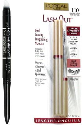 L,Oreal Paris Infallible Eye Liner & Lash Out Blackest Black Mascara