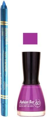 Fashion Bar Light Purple Nail Polish With Pro Non Transfer Turquoise Blue Kajal 97