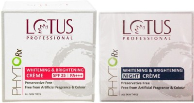 Lotus Phyto Rx Whitening Brightening Creme (50 g) and Whitening Brightening Night Creme (50 g)