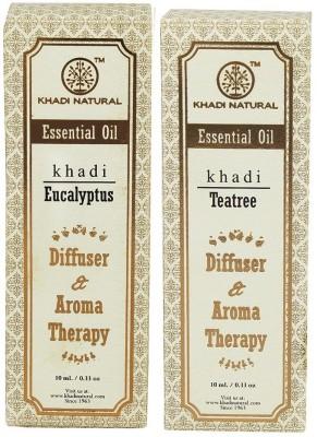 Khadi Natural Essential Oil Combo - 2 (Tea Tree & Eucalyptus)(Set of 2)