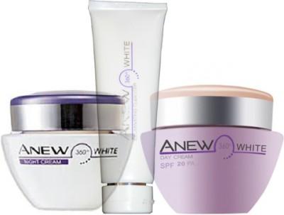 Avon Anew White 360 Illuminating Night Cream (30g) + Protective Day Cream SPF 20 PA++ (30g) + Cleanser (125g)