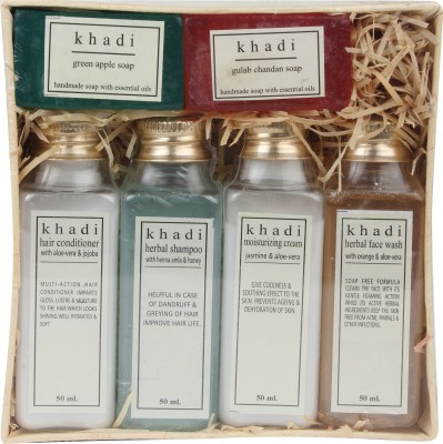 Khadi Natural 2 Soap And 4 Bottle 50ml Gift Box