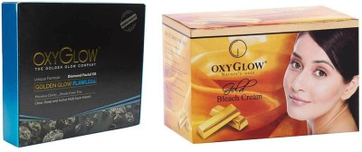 Oxyglow Golden Glow Flawless Daimon Facial Kit & Gold Bleach Cream 240gm