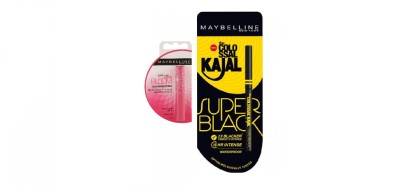 Maybelline New York Colossal Kajal Super Black & Bloom Color Changing Lip Balm-Pink Blossom Strawberry(1.7 g)