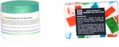 Absolute Beauty De-Tan Black Dot Remove Fairness Skin Care Cream for Dead Cells + Goat Milk Soap