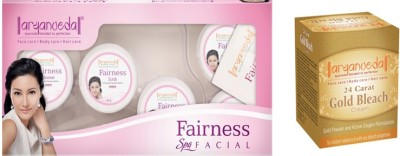 Aryanveda Combo Of Fairness Facial Kit & Aryanveda Gold Bleech