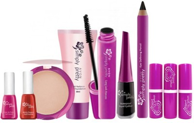 Avon Simply Pretty Complete Makeup Set (10 pc)(Set of 10)