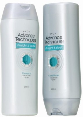 Avon Advance Techniques Straight & Sleek Shampoo and Conditioner combo pack (200 ml each)