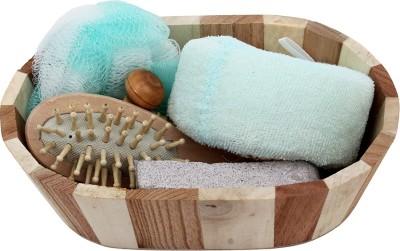 Styler Blue & Brown Bath & Spa Set(Set of 1)