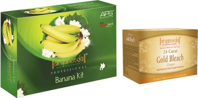 Aryanveda Banana Facial Kit (510gm) With One Gold Bleach (250gm)