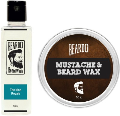 Beardo The Irish Royale Beard Wash (100ml) & Wax (50g) Combo