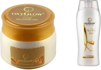 Oxyglow Gold Massage Gel Eco Pack & Rich Body Butter