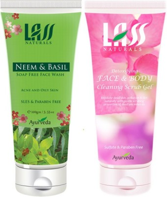 Lass Naturals Combos of Face wash and Gel